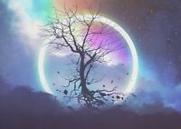 A1 | Fantasy Eclipse Tree Poster Art Print 60 x 90cm 180gsm Gamer Gift #14024