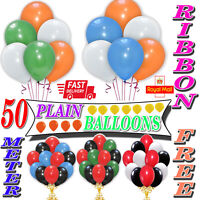 "30 LARGE PLAIN 10"" BALLOONS BALLONS helium BALLOONS Quality Bday Wedding BALOON"