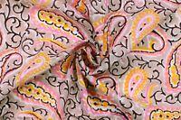 Indisch Handgefertigt Bedruckt Stoff Hand Blockdruck Baumwollkleid Stoff 0.5m