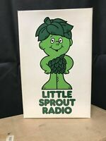 "Vintage 70s Green Giant PROMOTIONAL ""LITTLE SPROUT"" Transistor PORTABLE Radio"