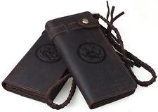portefeuille cuir homme porte monnaie porte carte Marron cowboy vintage Biker