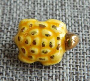 "Antique Vtg Button Ceramic Turtle ~Aprx:7/8""~#1006-B"