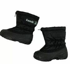KAMIK Winter Boots Snow Waterproof Insulated Toddler Size 6 Zip Front Black