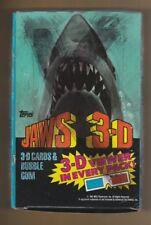 1983 Jaws 3D Unopened Box w/glasses 36 Mint Packs