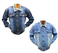 New TiM  Mens Denim Jacket Classic Authentic Vintage Style Trucker Jean Coat