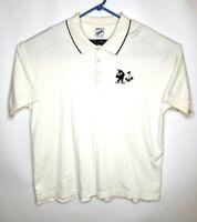 Vintage 1996 Looney Tunes Warner Bros Golf Polo Cream Shirt Taz Size XL Club