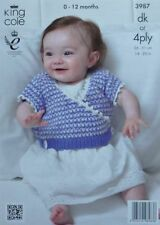 Baby DK/Double Knit Cardigans Patterns