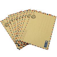 10 pcs Sheets Envelope Postcard Letter Stationary Storage Paper AirMai Vintage