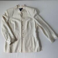 Preston & York Women's Blazer Jacket Long Sleeve Ivory color Size 16