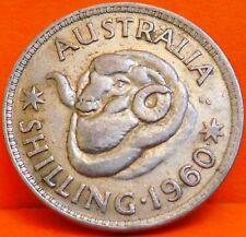 AUSTRALIA, 1 SHILLING,1960. PLATA. KM 59.