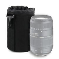 Black Medium Soft Pouch Case for Tamron AF 70-300mm f/4-5.6 Di LD Macro Lens