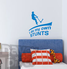 I do my OWN STUNTS scooter eat sleep scoot boys bedroom wall art sticker decal