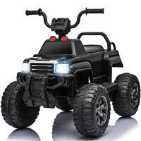 6V Kids Powered Electric ATV Quad Ride on Car with 2 Speeds, LED Lights, MP3