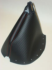 Honda Civic 96 97 98 99 00 Carbon Fiber Look Shift Boot w/ Red Accent