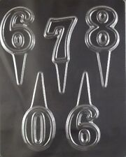 Cake Pick Numbers 6 to 0  Chocolate Candy Mold