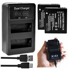 Battery OR LCD Charger for Panasonic DMW-BLE9E DMW-BLG10PP Lumix DMC-GX85 GX80