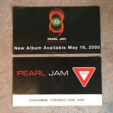 2 Pearl Jam Store Promo Posters for Binaural & Yield Albums Very Rare Two-Sided