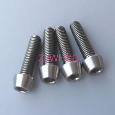 4pcs M5 Titanium Ti Screw Bolt Allen Hex Taper Socket Cap Head Aerospace Grade