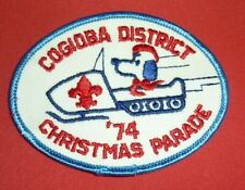 VINTAGE BOY SCOUT BSA PATCH Cogioba District Christmas Parade 1974
