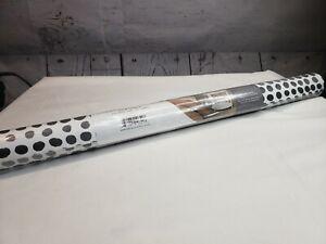 Novogratz MD10642 Tempaper Peel Stick Wallpaper MOIRE DOTS BLACK & WHITE