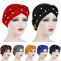 Head Wrap Hijab Head Scarf Muslim Beads Braid Women Turban Cap Cancer Chemo Hat