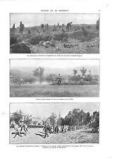 WWI MACÉDOINE MACEDONIA Serbia Army Prisoners Bulgaria Artillerie ILLUSTRATION
