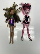 Monster High Doll Lot of Two Wolf Vampire Green Pink Used