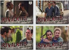 Walking Dead Season 7 Complete Rivalries Chase Card Set R1-4