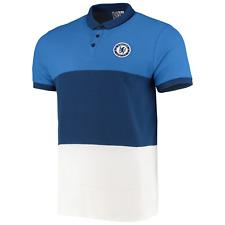Chelsea FC Official Men's Colour Block Polo Shirt - Blue - New