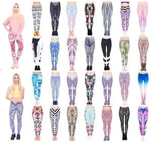 Kukubird Women's Yoga Gym and Fashion Leggings Size 6-10 Stretchable