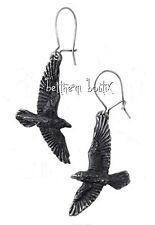 Goth : Alchemy Boucle d' Oreille Corbeaux Noir Crow Black Raven Gothique