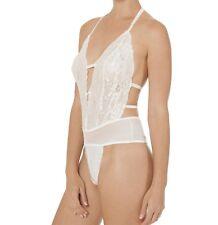 Secret Treasures Women's Plus 2XL Cream Lace Teddy Sleep Body Suit Bridal