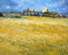 Oil Painting on Canvas, Landscape, Wheatfields in Arles Provence, After Van Gogh