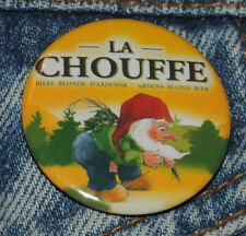Pin Button Badge Ø38mm  La chouffe bière blonde ( 1 )