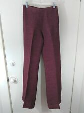 ZARA Sz14 Flax/Linen Pant-Side Zip- Flat Front and Back-No Pockets-Russet Color