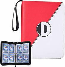 More details for dacckit carrying case binder compatible game holds 400 car 4-pocket pages zipper
