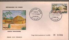 1965 - Niger - Enveloppe FDC -1°Jour -Habitat Traditionnel - Obl.Niamey -Y/t.153