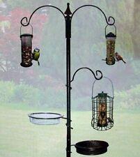 New Wild Bird Feeding Station Tray Mesh Water Dish 3 Pole Section Garden Outdoor