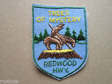 Trees Of Mystery Redwood Hwy Woven Cloth Patch Badge