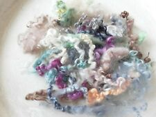 20g Hand Dyed Wool Locks, Curls, Mix of Colours, Needle Felting, Spinning, Nr.7
