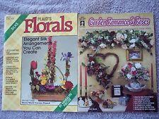 Silk Flower Floral Arrangement Garden Romance & Roses Lot of 2 Decor Booklets