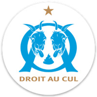 STICKERS Autocollant ANTI OM - Droit au cul | FOOT ULTRAS 8 x 8 cm | (lot de 2)