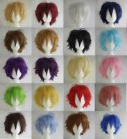 MULTI COLOR SHORT STRAIGHT HAIR WIG ANIME PARTY COSPLAY FULL SELL WIGS CAP 30CM