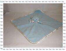 ♪ - Grand Doudou Plat Carré Ours Bleu Blanc  Musti de Mustela
