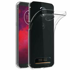 For Motorola Moto Z3 Play Case Clear Silicone Slim Gel Cover & Stylus Pen