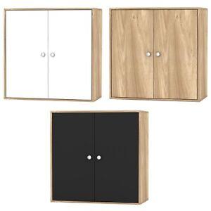 2 Tier Wooden Storage Cabinet Side Furniture Cupboard Bedroom Hallway Shelf Unit
