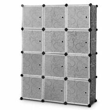 DIY 8 Cubes Portable Closet Storage Organizer Clothes Wardrobe Cabinet White