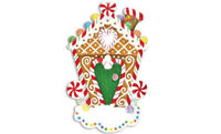 Gingerbread House Personalized Christmas Ornament  OR1248