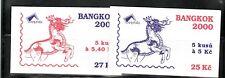 Czech Republic Sc 3068-9 NH BOOKLETS of 2000 - BANGKOK EXPO