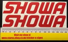 2x SHOWA Red Sticker Decal 150mm X 28mm Stickers Decal